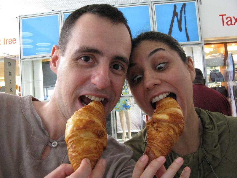 Não dá para passar pela frança sem comer um croissant!
