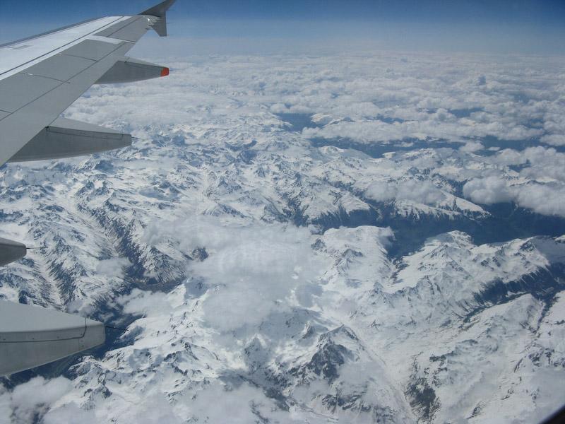Indo para a Grécia, os Alpes vistos e cima!