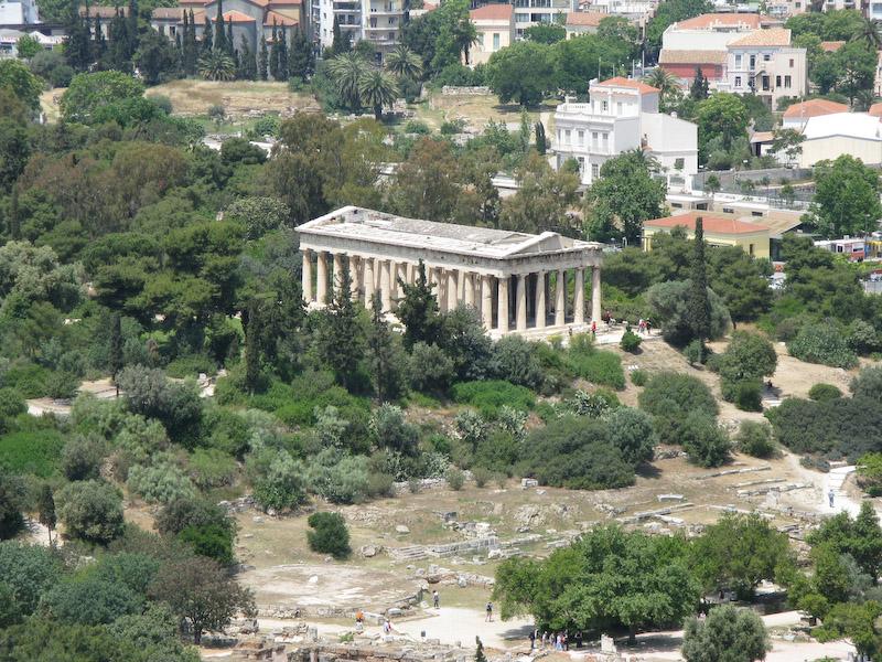 Vista de um dos prédios da Ágora antiga
